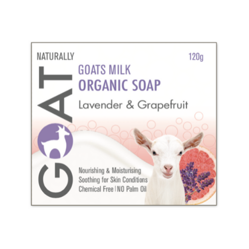 Lavender and Grapefruit Goat Milk Soap