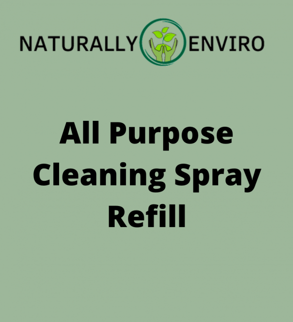 Our Organic Eco Friendly All Purpose Cleaning Spray 1 litre refill bottle.